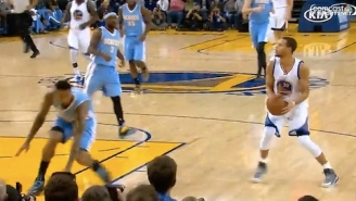 GIF: Steph Curry Nearly Breaks Wilson Chandler With Nasty Step-Back
