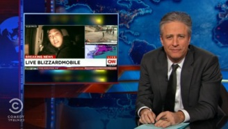 Jon Stewart Rips The Alarmist Cable News Coverage Of This Week's Blizzard