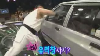 Here's a Man Destroying a Car 'Street Fighter II'-Style