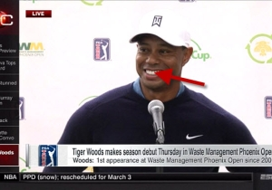 Watch Tiger Woods Crack A Pretty Good Joke About 'Brown Dudes At Ski Races'