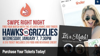 The Atlanta Hawks Want To Help You Find A Date With A Tinder-Themed 'Swipe Right Night'