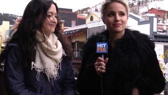 'Zipper' stars Dianna Agron and Richard Dreyfuss talk political sex scandals