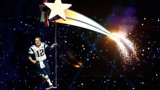 Tom Brady's Facebook Page Currently Features A Wonderful Photoshop Of Katy Perry's Halftime Star Ride