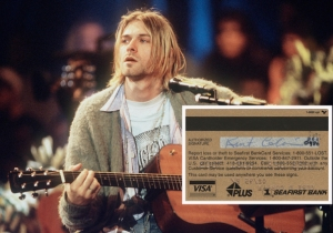 Kurt Cobain's Allegedly Stolen Credit Card Is Now Up For Auction