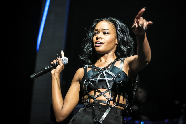LONDON, UNITED KINGDOM - SEPTEMBER 19: Azealia Banks performs on stage at Brixton Academy on September 19, 2014 in London, United Kingdom. (Photo by Christie Goodwin/Redferns via Getty Images)