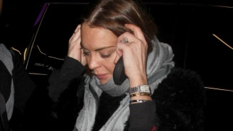 Why Is Lindsay Lohan Wearing What Appears To Be An Engagement Ring?