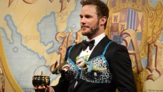 Chris Pratt Showed Off His Lap Dancing Skills At The Hasty Pudding 'Man Of The Year' Award Ceremony