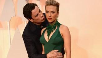 Scarlett Johansson Gave A Weird Statement About John Travolta's Even Weirder Kiss