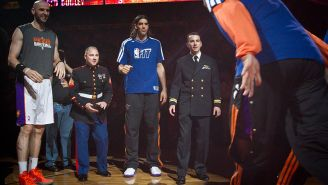 The NBA Honors Outstanding Marines