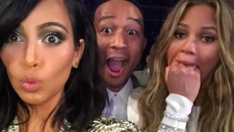 John Legend Wants You To Know That Kim Kardashian Selfie Was Not In Response To Beck's Grammy Win