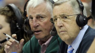 Here's Bobby Knight Interrupting A College Basketball Broadcast To Yell At Fans
