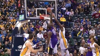 DeMarcus Cousins Throws Down Nasty Putback Slam Over Ian Mahinmi, Luis Scola