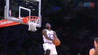 Video: LeBron James Freaks Nasty Reverse Dunk Off Halfcourt Lob From Kyle Lowry