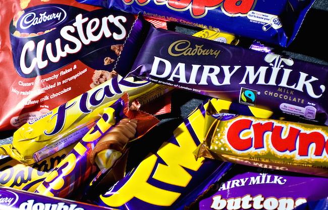 A variety of Cadbury's chocolate product