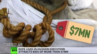 The Noose Used To Hang Saddam Hussein Is Now Up For Sale To The Highest Bidder