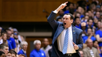 Coach K Wears Carolina Blue To Dean Smith's Funeral