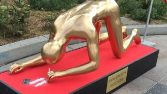 The Real Reason Behind The World-Famous Oscar Statue Snorting Cocaine On Hollywood Boulevard