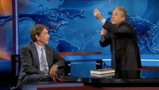 'I Think It's A F*cking Puppet': Jon Stewart And Martin Short Debate Katy Perry's Super Bowl Tiger
