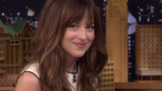 Dakota Johnson And Jimmy Fallon Put On Their Best Bedroom Eyes And Played 'Anything Can Be Sexy'