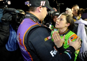 Watch Danica Patrick And Denny Hamlin Get Into A Post-Wreck Argument