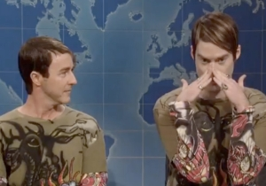 Edward Norton Says They Intentionally Made Him Look Small Next To Bill Hader's Stefon On #SNL40