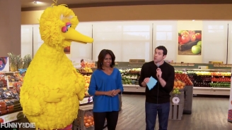 Billy Eichner Played 'Ariana Grande Or Eating A Carrot?' With Michelle Obama And Big Bird