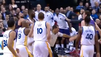 Festus Ezeli's Throat Jab To Tyler Hansbrough Leads To Scuffle, Ejections During Warriors' Blowout Of Raptors