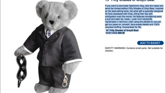 'Fifty Shades Of Grey' Teddy Bear Will 'Help You Dominate Valentine's Day'