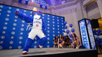 The New Sixers Mascot Is A Fluffy Blue Breakdancing Dog Named Franklin