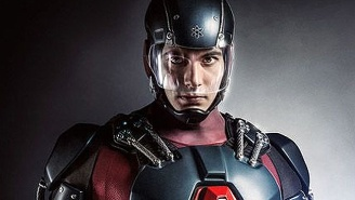 Check Out Brandon Routh In His New Heavy-Duty Atom Exosuit