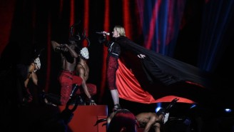 Ouch — Madonna Fell Hard On Her Back While Performing At The BRIT Awards