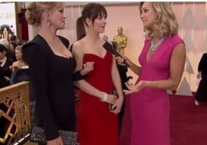 Things Got Awkward When ABC's Red Carpet Reporter Asked Melanie Griffith If She Saw 'Fifty Shades Of Grey'