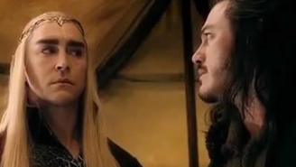 Headcanon Accepted! Bard the Bowman and Thranduil are star-crossed Disney princesses
