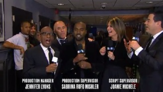 Kanye West Interrupted Matt Lauer At The End Of The #SNL40 Red Carpet Coverage