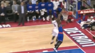 Kentavious Caldwell-Pope Flies Down Floor For Epic Chase-Down Block Of Tim Hardaway