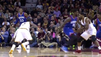 Video: Kyrie Irving Puts JaKarr Sampson On Skates With Killer Crossover