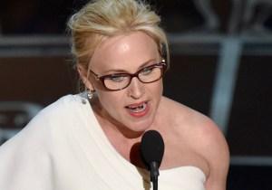 Patricia Arquette dissed the 'Mani Cam' again backstage