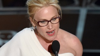 Patricia Arquette dissed the 'Mani Cam' again backstage
