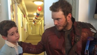 Chris Pratt Visited A Boston Children's Hospital As Star-Lord To Pay Off His Super Bowl Bet