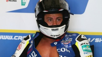 This Motorcycle Racer's Bruised Butt Is A Purple Nightmare