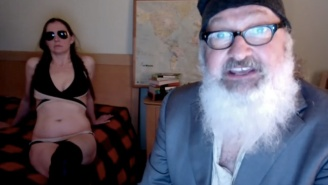 Here's Randy Quaid 'F*cking' His Rupert Murdoch Mask-Wearing Wife