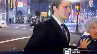 Watch This Reporter Flawlessly Deflect A Videobomber During A Live News Report