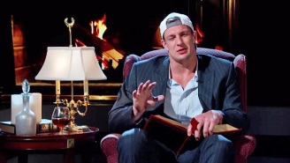Watch Rob Gronkowski Read And Improvise Erotic Fan Fiction For Jimmy Kimmel