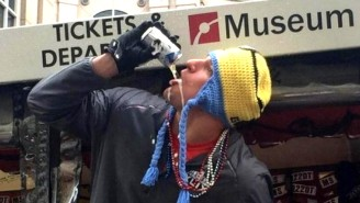 A Photo Essay Of Rob Gronkowski At Today's Super Bowl Parade