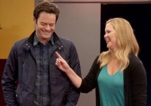 Watch Amy Schumer and Bill Hader terrorize a theater to promote the MTV Movie Awards