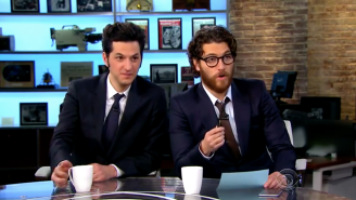 Adam Pally And Ben Schwartz Hosted 'The Late Late Show' And It Was A Glorious Mess