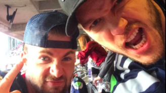 Chris Pratt and Chris Evans Are Being Awesome At The Super Bowl Together