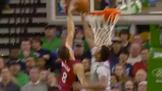 GIF: Marcus Smart Denies Breakaway Dunk By Heat's Tyler Johnson