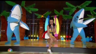 Bonobos Has Launched A Kickstarter To Hook Us All Up With Katy Perry Halftime Show Shark Suits