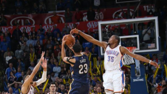 Watch The Legend Of Anthony Davis Grow With This Ridiculous 3-Point Buzzer-Beater Against OKC